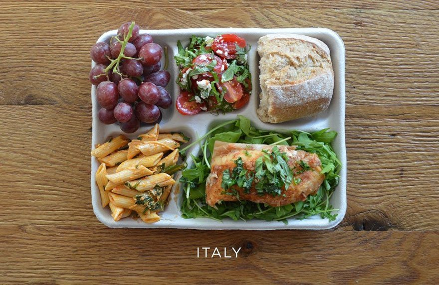 school lunches around the world italy